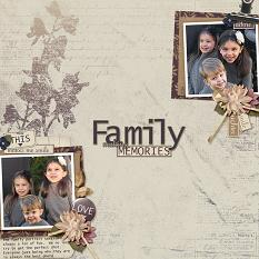 Family Making Memories layout using Autumn's Hush Collection