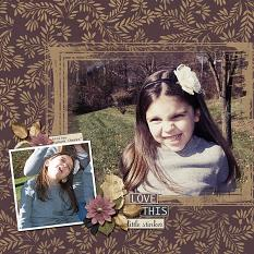 Little Stinker layout using Autumn's Hush Collection