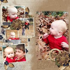 Family layout using Autumn's Hush Collection