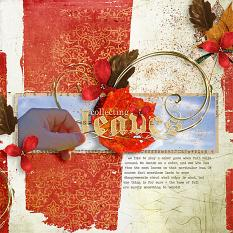 "digital scrapbooking #fall ""Collecting Leaves"" layout idea by Amanda Fraijo-Tobin using All Fall collage digital background papers 
