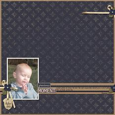 Precious Moment layout using Autumn's Hush Collection