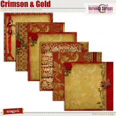 Crimson & Gold Stacked Backgrounds