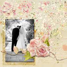 Wedding layout using ScrapSimple Paper Templates: Blendology Overlay