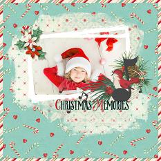 Digital scrapbooking layout using Merry Mint Value Pack