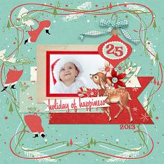 Christmas layout using Merry Mint digital kit