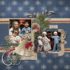 """Christmas Eve"" layout by Judy Webster using Tis The Season Collection Biggie"