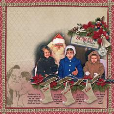 """Scared of Santa"" layout by Sue Maravelas using Tis The Season Collection Biggie"