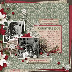 """Christmas 1963"" layout by Ginny Whitcomb using Tis The Season Collection Biggie"