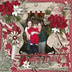"""Janel's First Christmas"" layout using Tis The Season Collection Biggie"