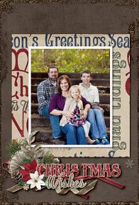 """Christmas Wishes"" printable card by Shannon Trombley using Tis The Season Collection Biggie"