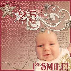 """1st Smile"" layout by Jody West using Tis The Season Collection Biggie"
