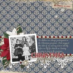 """Christmas Program"" layout by Ginny Whitcomb using Tis The Season Collection Biggie"