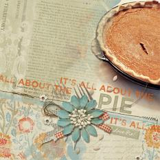 """All Abou the Pie"" Digital Scrapbooking layout by Brandy Murry"