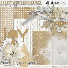 Krafty White Christmas Collection Mini by Amanda Fraijo-Tobin | ScrapGirls.com