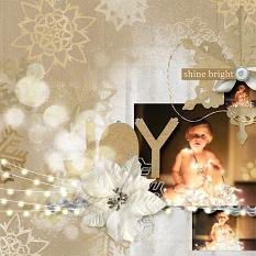 "#digitalscrapbooking ""Joy"" Layout by Amanda Fraijo-Tobin using Krafty White Christmas Collection 
