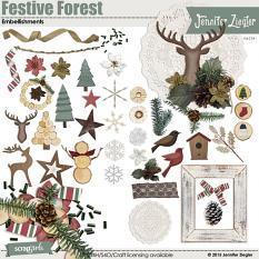 Festive Forest Embellishments, included in the collection