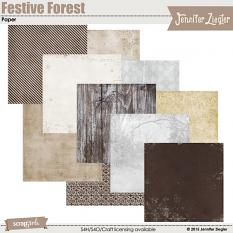 Festive Forest Papers, included in the collection
