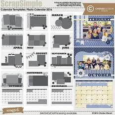 ScrapSimple Calendar Templates: Photo Calendar 2016
