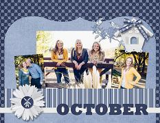 """October 2016"" digital calendar top page by Cherise Oleson (see products used in description below)"