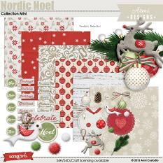 Digital scrapbooking kit, Nordic Noel  by Armi Custodio