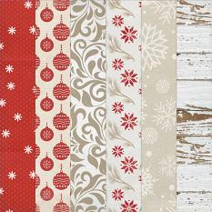 Paper Samples from Nordic Noel Collection Mini, a Christmas-themed digital scrapbooking kit