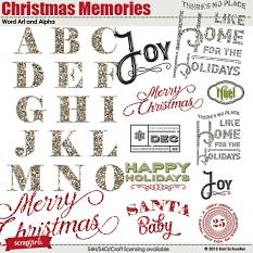 Christmas Memories Alpha and Word Art