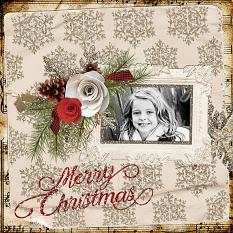 """Merry Christmas"" digital layout by Keri Schueller"