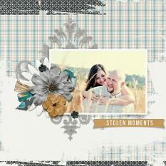 layout using Capturing Memories Embellishment Mini
