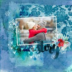 Layout using Winter Breeze digital papers