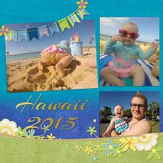 """Hawaii 2015"" layout uses SSDLAT: 12x24 Modern PhotoBook"