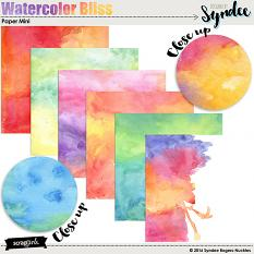 Watercolor Bliss digital papers