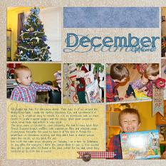"""December"" digital layout showcases Brush Set: Scrap It Monthly Two Biggie"