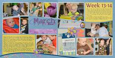 """March"" digital layout features SSDLAT: 12x24 Scrap It Monthly Two Series 1"