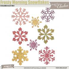 Frosty Morning Snowflake Embellishment Mini