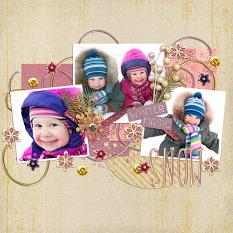 Digital Scrapbook Layout using Frosty Morning Collection