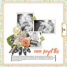 Family layout using 2016 Everyday Collection