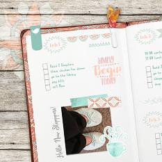 Plan Perfect February Planner Mini Kit Sample Layout
