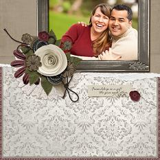 """""""Friendship is a Gift"""" layout by Angie Briggs featuring the My Best Friend Collections"""