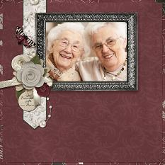 """""""Friends are Gifts"""" layout by Ginny Whitcomb featuring the My Best Friend Collections"""