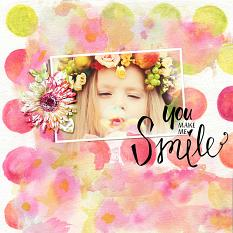 Smile layout using Kiss from a Rose digital kit