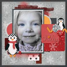 Layout using Penguins Collection Mini by Cheri Thieleke