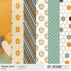 Honey Love Papers Included in Collection | AFT Designs
