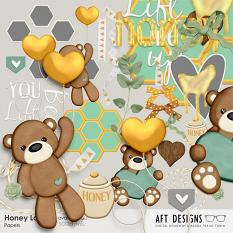 Embellishments and Word Art included in Honey Love Collection Mini