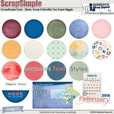 ScrapSimple Styles: Scrap It Monthly Two Super Biggie