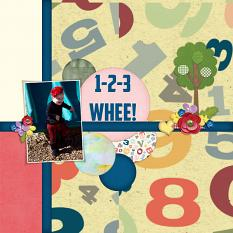 """1 2 3 Whee!"" digital layout showcases ScrapSimple Styles: Scrap It Monthly Two Super Biggie"