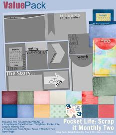 Value Pack: Pocket Life Scrap It Monthly Two