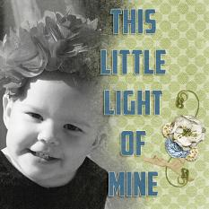 """Little Light"" digital layout features ScrapSimple Styles: Scrap It Monthly Two Super Biggie"