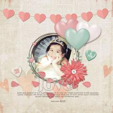 Layout by Armi Custodio using Sweet Love Collection Mini