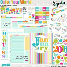 Color Your World printable planner