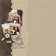 Perfect Blend digital scrapbooking layout featuring Morning Brew Collection